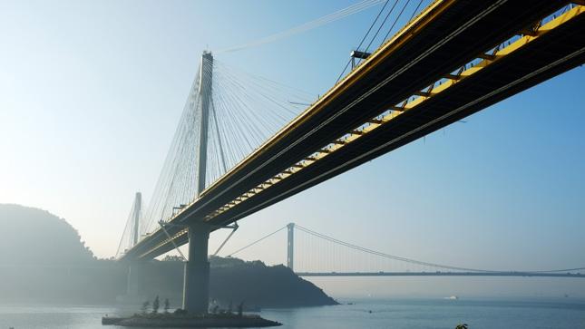 哲理句子,清晨跨海大桥图片
