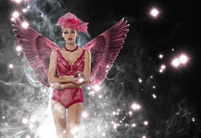 哲理句子,唯美意境翅膀美女图片