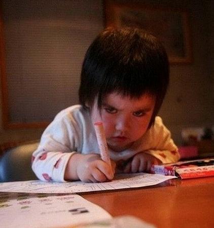 君子坦荡荡,小人写作业
